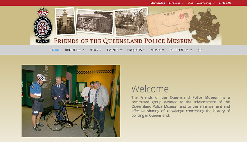 Friends of the Queensland Police Museum home page